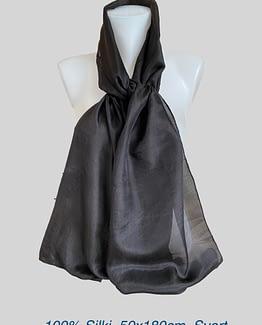 100% Einlitt silki 50x170cm
